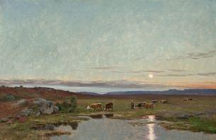 landskap med kuer norefjell by christian eriksen skredsvig