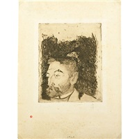 portrait of stephen mallarme by paul gauguin