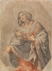 madonna in gloria by carlo dolci