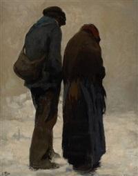 conversation en hiver by kurt peiser