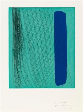 sans titre composition en turquoise et bleu 2 others 3 works by hans hartung
