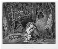chien d'amérique défendant sa maîtresse (after hippolyte lecomte) by jean-pierre-marie jazet