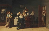 a musical party in an interior by dirck hals