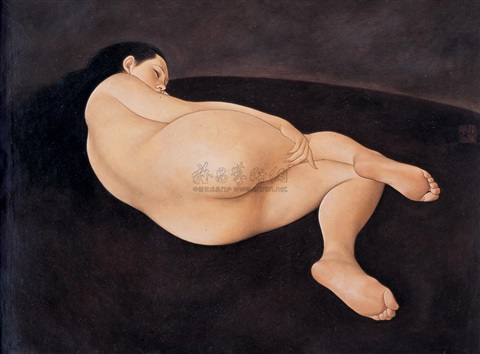 sleeping nude by xue yanqun