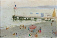 plage de cannes by armand jacques assus
