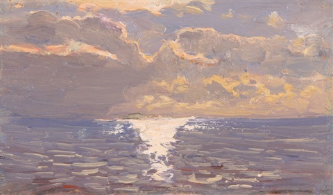 sea at sunset by nikolai nikanorovich dubovskoy