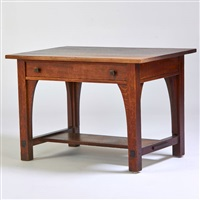 single drawer library table by charles limbert