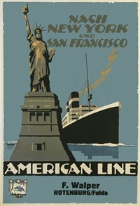 nach new york und san francisco/american line by ottomar anton
