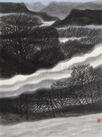 云梦之中一 (cloud and forest in dream no.1) by liu yun