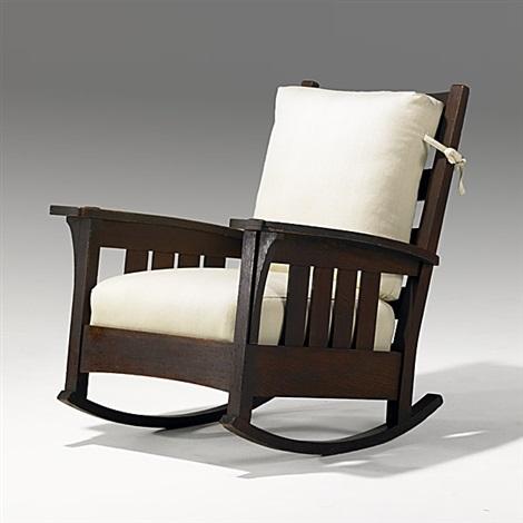 Awe Inspiring Rocking Chair By L J G Stickley On Artnet Creativecarmelina Interior Chair Design Creativecarmelinacom