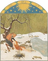 winter by edmund dulac