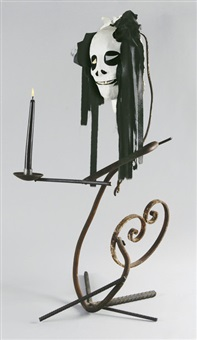 untitled (candlestick) by eva aeppli and jean tinguely