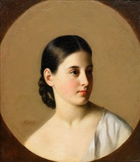 portrait of a young woman by leonid florianovich jodeïko