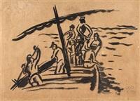 fischer im boot by max pechstein