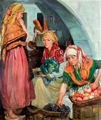 aldeanas en el mercado by alvaro alcala galiano