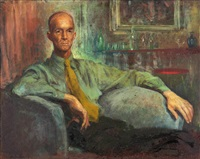 portrait of thomas gilroy dobinson; study for the portrait (2 works) by william dobell