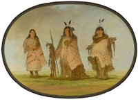 blackfoot indian group by george catlin