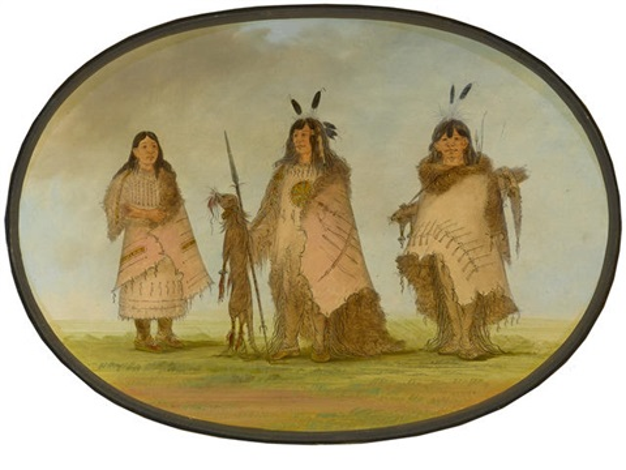 Blackfoot Indian Group by George Catlin on artnet