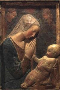 madonna mit kind und drei schwebenden engeln by donatello