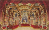 theater design for a medieval interior by ivan petrovich andreev