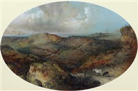 moorland with ponies by edward robert smythe
