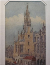 st. michael's church, edinburgh by william gawin herdman