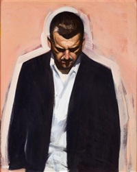 study for self portrait 1 by stephen conroy