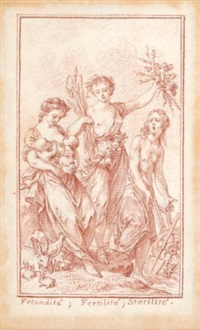 allegorical figures of fecundity, fertility, and sterility by charles nicolas cochin the younger