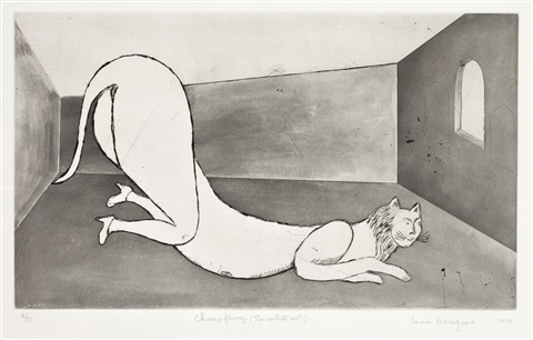 champ fleury the white cat by louise bourgeois