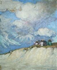 bretonnes sur la dune by jean julien lemordant