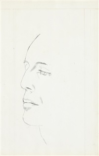 georges balanchine by lucian freud