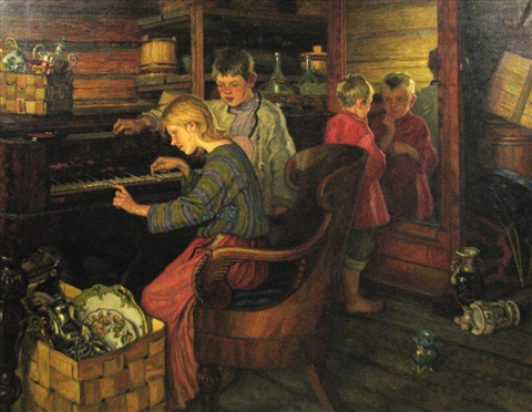 the servants children in the boyars house by nikolai petrovich bogdanov belsky