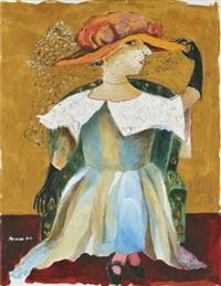 sitting lady by margit anna