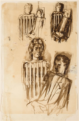 untitled (sketches with multiple figures) by pavel tchelitchew