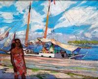tahitienne au port by fabien fabiano