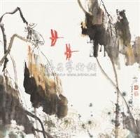 荷花蜻蜓 by zheng shufang