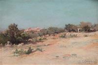 paysage provençal by théophile-henry decanis