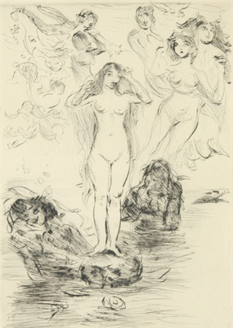 die geburt der venus pl 1 from kompositionen by lovis corinth