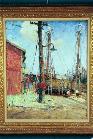 fishing boat at dock by anna s fisher