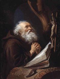 saint jerome in prayer by gerrit dou