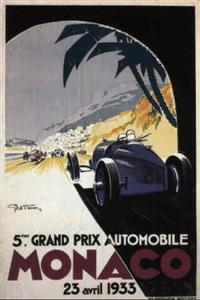 monaco grand prix 1933 by posters: sports - monaco grand prix