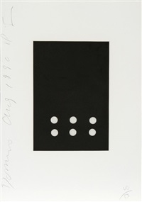 dominoes portfolio - 22 by donald sultan