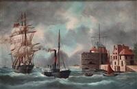 l'entrée du port du havre by édouard adam