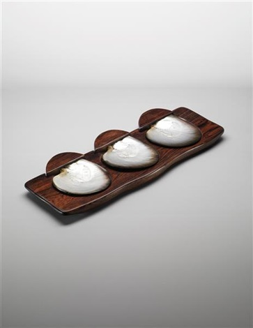 rare tray with three servers by alexandre noll