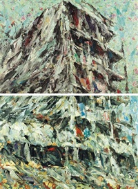 being there (diptych) by ayman baalbaki