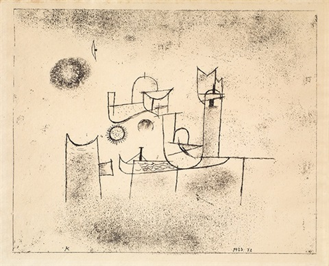 sonne im thor by paul klee