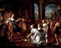 salomon und die königin von saba by jacob andries beschey