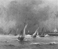 ships at sea by emile renouf