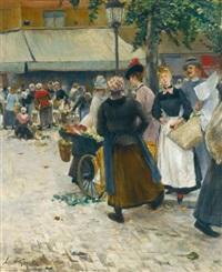 le marche des halles, paris by norbert goeneutte