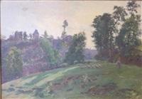 paysage aux moutons by louis le poitevin